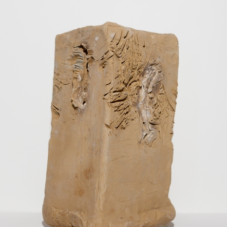 Clay, food, animal footprints, 35 x 16 x 16 cm